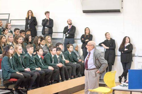 Harry Bibring's visit to Bushey Meads School