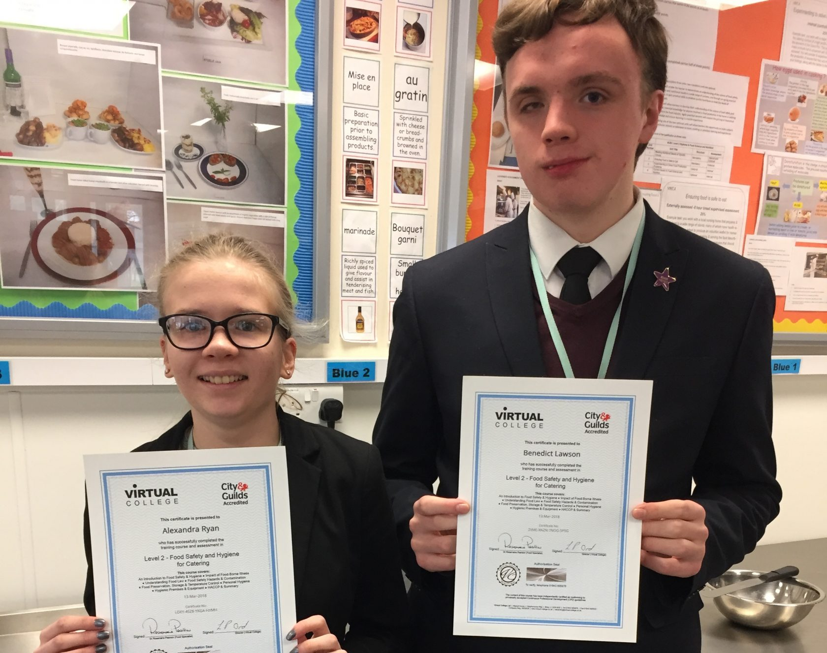Year 13 passed their Level 2 Food Hygiene Certificate!