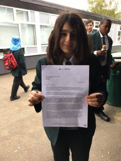 BMS Student Recognised in National Young Writers' Competition
