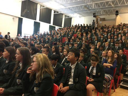 Mr Back kicks off assemblies on hopes and aspirations