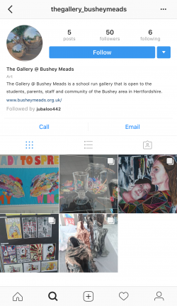 The Gallery @ Bushey Meads now has Instagram!