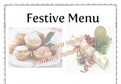 Christmas Lunch Thursday 13th December Tickets on Sale!