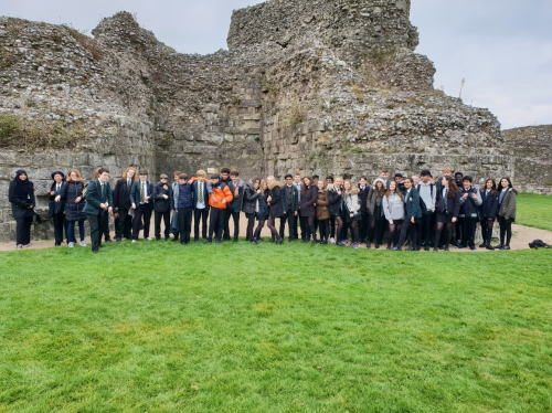Year 10 & 11 trip to Pevensey Castle and Battle Abbey