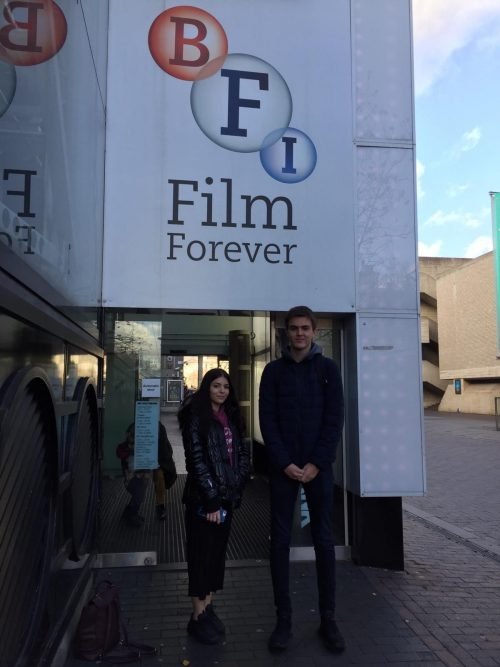 Visit to the British Film Institute, South Bank