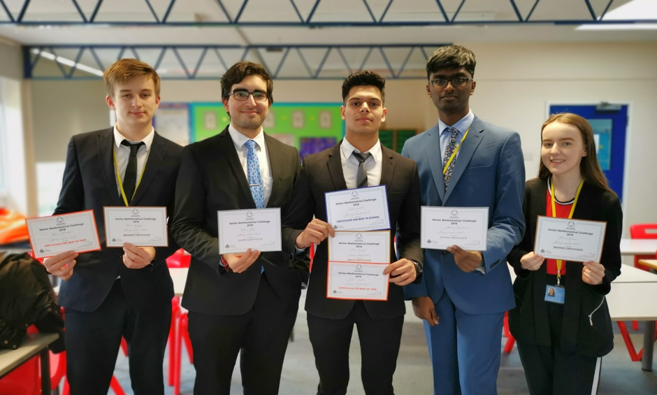 Bushey Meads Senior Maths Challenge Awards