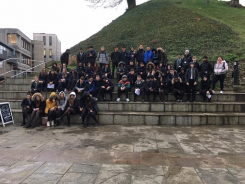 GCSE Geographers exploring regeneration and recreation in Oxford