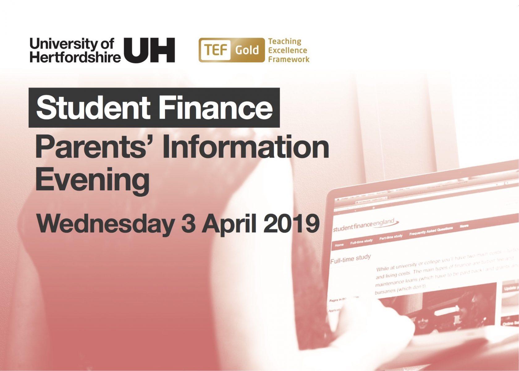 Student Finance Parents' Information Evening
