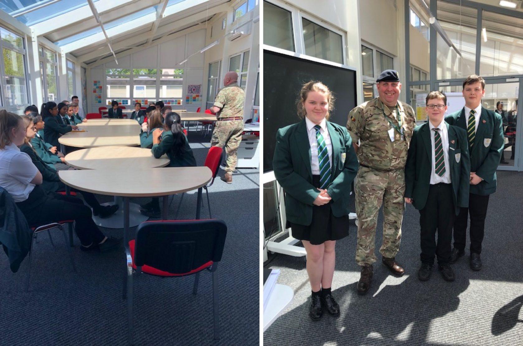 Major McGlynn of the Reme Regiment visits Anti-Bullying Ambassadors