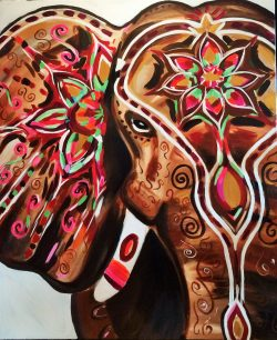 Indian Elephant Family Art Course