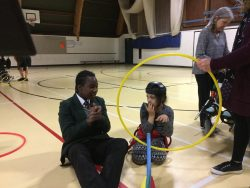 Working with students from Meadow Wood School