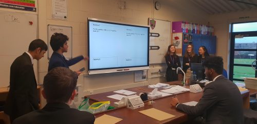 Student's deliver CDC time activities on the theme of SUCCESS