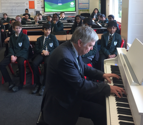 Professional Pianist Visits Bushey Meads School