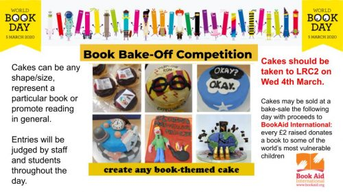 World Book Day Bake-Off Competition – Weds 4th March!