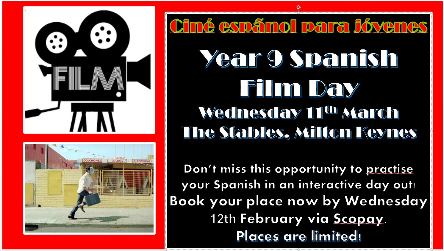 Year 9 Spanish Film trip
