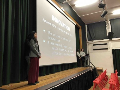 Sixth Form Scientists lead main school assemblies on the theme of Innovation