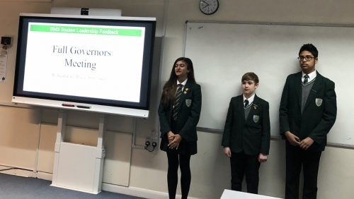 Students present at Full Governing Body Meeting
