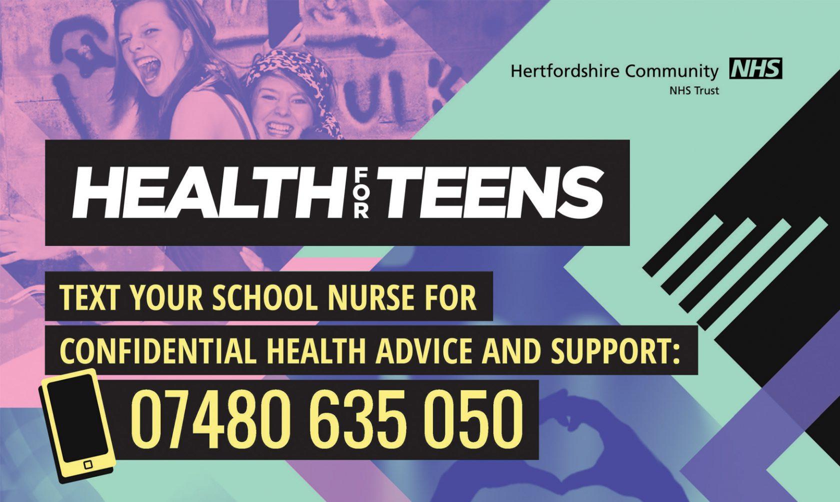 Health for Teens – Text your school nurse!