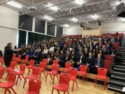 Year 12 Students Sitting Through their First Assembly as Sixth Formers