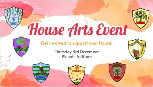 House Arts Event – Results