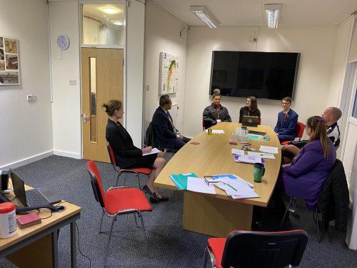 Student Leadership Team at SLT Meeting