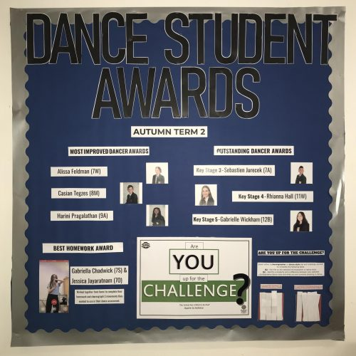 Dance Student Awards: Autumn 2
