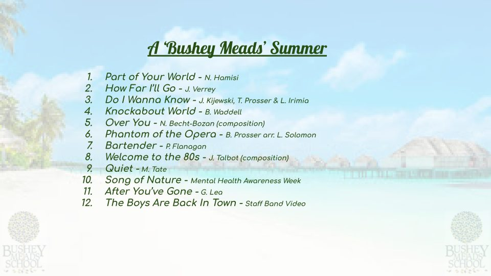 Music Department Summer CD